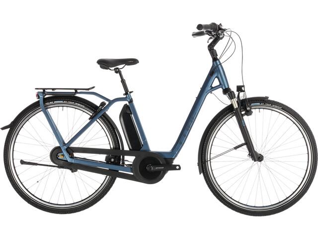 Cube Town Hybrid EXC 400 E-citybike Easy Entry blå (2019) | City